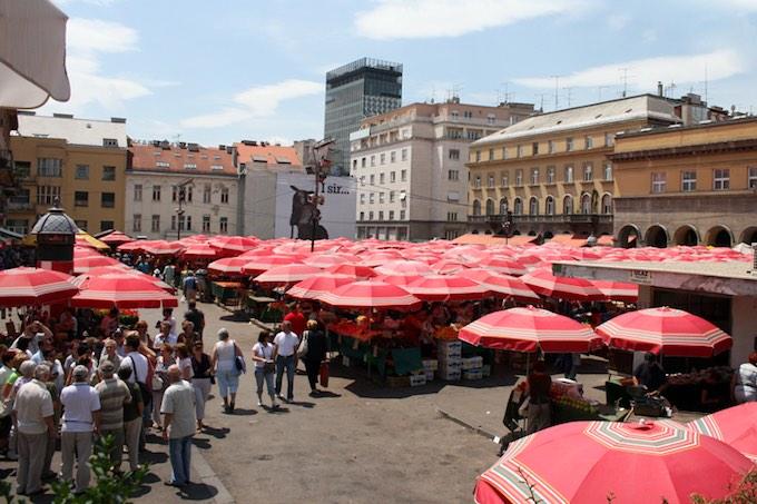 De Dolac-markt in Zagreb (foto: Wikimedia)